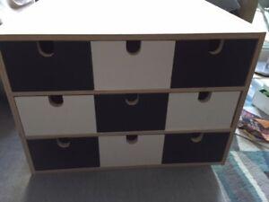 Ikea FIRA Wooden Storage Mini Chest 9 Drawer Organizer