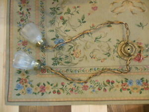 Old brass hanging lamp London Ontario image 1
