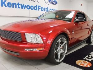 2007 Ford Mustang V6- Bringin it back old school in this red hot