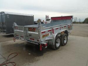 GALVANIZED DUMP TRAILER 5 TON - 6 X 12 WITH MORE FEATURES N&N London Ontario image 2