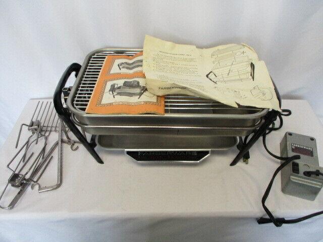 VINTAGE Farberware 455N Electric Countertop Open Hearth Broiler Indoor Grill USA