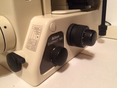 Nikon Diaphot 300 Inverted Microscope Fluorescence Phase Contrast