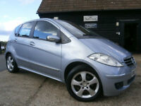 0707 MERCEDES BENZ A150 1.5 AVANTGARDE SE MANUAL ICE BLUE/BLACK LEATHER 68K FSH