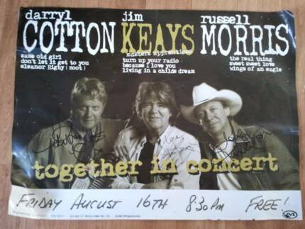 Autographed Concert Poster - Cotton Keays & Morris Caringbah Sutherland Area Preview