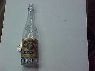 Antique catsu bottle, (Columbia), Columbia Conserve Co., Indianapolis Ind., pape