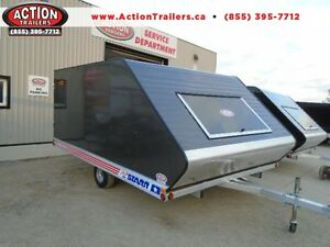 8.5 X 12 HYBRID SLED TRAILER - INCLUDES SKI GLIDES AND MATS!!