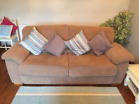 Biscuit 3 seater sofa, great condition, free delivery