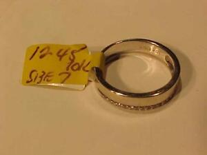 #1245-10K WHITE GOLD *ENHANCEMENT* BAND Size 7- TESTED DIAMONDS-FREE SHIPPING in CANADA ONLY-INTERAC BANK TRANSFER ACCEP