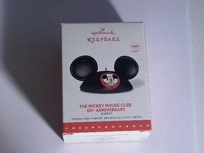 Hallmark Ornament 2015 The Mickey Mouse Club 60th Anniversary Disney Magic Sound