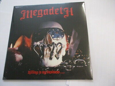 MEGADETH - KILLING IS MY BUSINESS - LP REISSUE VINYL NEW SEALED...