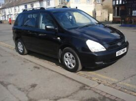 Kia SEDONA 2.9 CRDi GS 5dr, 2007 model, Full MOT, 7 Seater