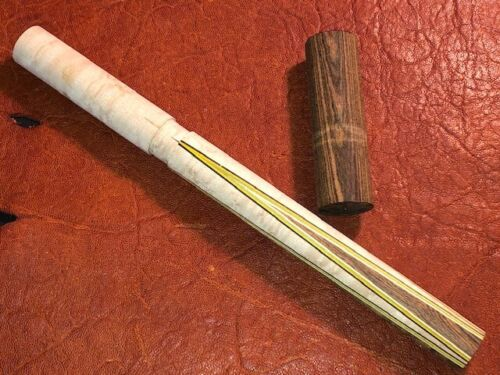 TNT 4 Point Prong Pool Cue Front. Bocote into Maple.