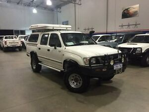 2003 Toyota Hilux KZN165R (4x4) White 5 Speed Manual Dual Cab Chassis Beckenham Gosnells Area Preview