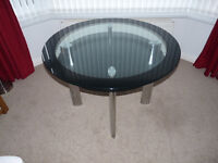 Round Glass Dining / Kitchen Table