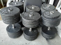 3 Pairs Heavy Size - York Prostyle Commercial Dumbbells