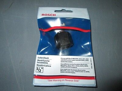 """Bosch 2610906284 1/2"""" Collet Chuck for 1613,1617,1618- & 1619 Series Routers NEW"""
