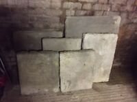 York stone slabs - assorted sizes