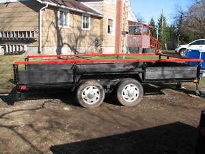 """Solid 7' wide  14' carrier total 18 ft- 20 """" high trailer"""
