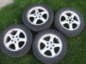 "Four 16"" tires on Mazda3 Rims 205/60R16 Sarnia Sarnia Area image 1"