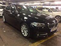 BMW 5 SERIES 2.0 518D SE 4d AUTO 141 BHP (black) 2014