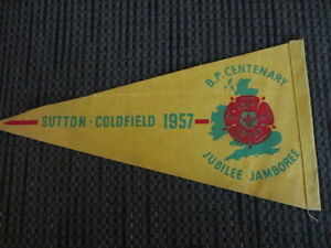 Four Vintage Boys Scout Pennants -Jubilee Year 1907 to 1957