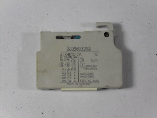 Furnas Electric Co 3TX4-010-2A Aux Contact Block  USED
