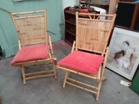 Bamboo Garden Chairs