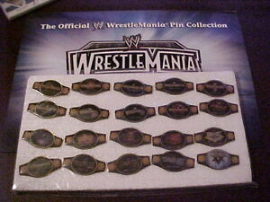 2004 WRESTLEMANIA XX PIN COLLECTION MINT set of 20 PINS