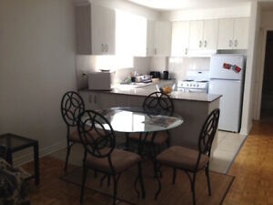 Furnished, all included - Apt meublé, tout inclus - CDN