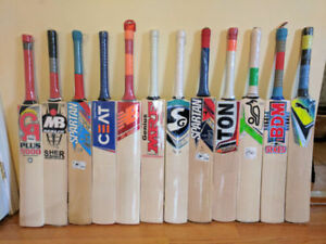 SEASON SALE: Cricket bats @ $ 50 + Kits /gear/equipment @150+