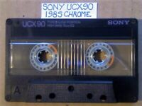 A2Z RARE GUARANTEED SONY UCX 90 PREMIUM CHROME CASSETTE TAPES 1985 W/ CCLs & FREE P&P