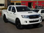 2013 Toyota Hilux KUN26R MY12 SR (4x4) White 4 Speed Automatic Dual Cab Pick-up Brendale Pine Rivers Area Preview