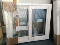 2 brand new windows, still in wrapping, white