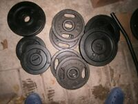 55kg metal Olympic 2 inch plates as shown