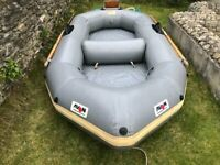 Avon Redseal Inflatable Dinghy Boat with Outboard Bracket, Oars, Pump and Bag