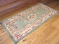 Chinese-style Rug in Duck Egg Blue, 94cm x 180cm. East Lothian