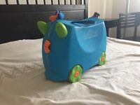 Trunki Ride-on Suitcase - Terrance (Blue) with Tidy Bag