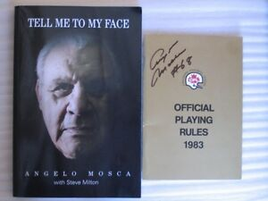 Tell Me To My Face; (with) Playing Rules - Angelo Mosca -SIGNED