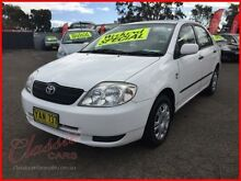 2002 Toyota Corolla ZZE122R Ascent White 4 Speed Automatic Sedan Lansvale Liverpool Area Preview