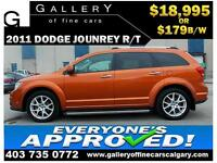 2011 Dodge Journey R/T AWD $179 bi-weekly APPLY NOW DRIVE NOW