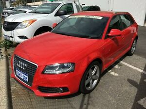 2010 Audi A3 8P MY10 TFSI Sportback Ambition Red 6 Speed Manual Hatchback Edgewater Joondalup Area Preview