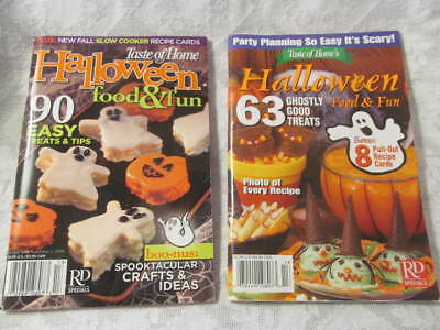 HALLOWEEN Food Fun~2 Vintage Taste of Home Cookbooks Soft Cover Booklets Recipes - Vintage Halloween Recipes