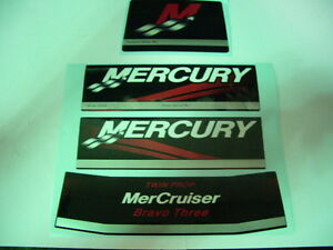 MERCRUISER BRAVO THREE REPLACEMENT DECAL SET Kingston Kingston Area image 1