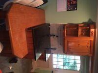 Handmade kitchen units with granite worktop