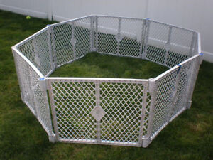 SALE Plastic Security Gate For Children or Pets 8 panels