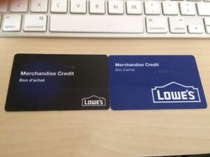 Lowe's gift cardHave $343 Lowe's gift card sell for $310