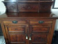 Shabby chick project wold be good on this Dark Woode Chiffonier Dresser with Mirror.