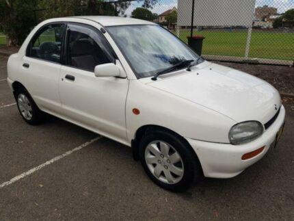 1995 Mazda 121 White 4 Speed Automatic Sedan