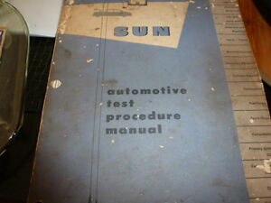 VINTAGE SUN AUTOMOTIVE TEST PROCEDURE MANUAL 1953