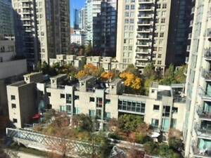 FURNISHED studio on beautiful street in the heart of YALETOWN